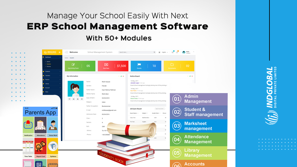 ERP School Management Software Development Company in Bangalore