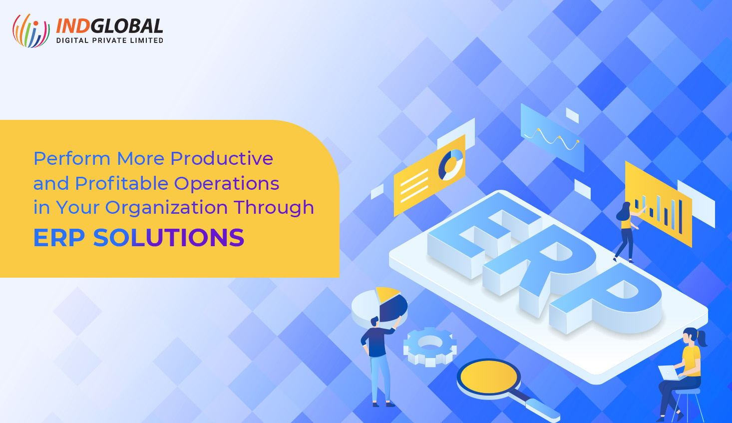 Perform more productive and profitable operations in your organization through ERP solutions